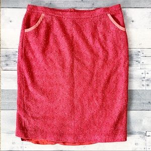 St. John Couture | Pink Tweed Fashion Fit Skirt
